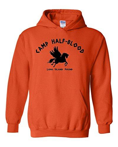 ARTIX Camp Half-Blood Cool Demigods Long Island Soundtrack Olympians Unisex Hoodie Sweatshirt XXXXX-Large Orange