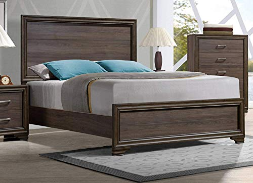 ACME Cyrille Walnut Eastern King - Contemporary Bed Eastern Sleek King