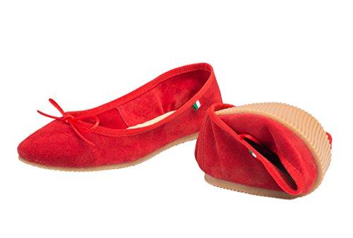 Silfer Shoes - Bailarinas de Piel para mujer Rojo rojo