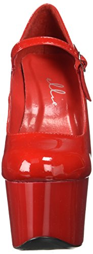 Ellie Zapatos Mujeres 709-dom Pump Red