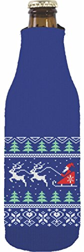 Coolie Junction Christmas Sweater Beer Bottle Coolie