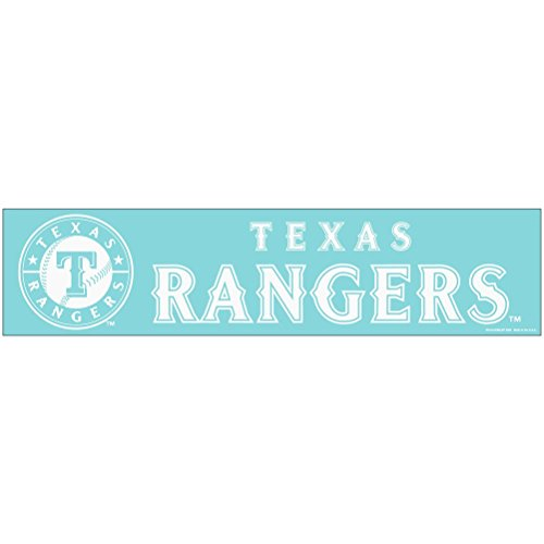 WinCraft Texas Rangers Official MLB 4 inch x 17 inch Die Cut Car Decal by ()