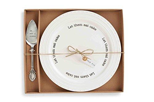 Mud Pie Cake Plate Set, White