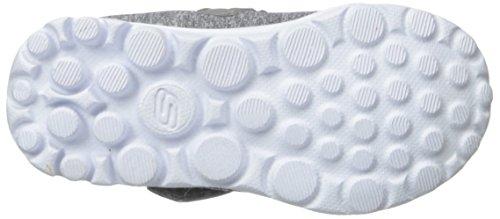 Skechers Go Walk Bitty Bow, Zapatillas de Deporte Exterior para Niñas Grey (Grey Multi)