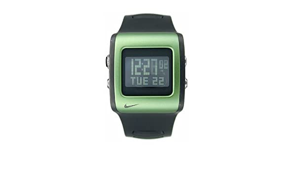 Nike Mettle Hoja Reloj Digital - Negro/Verde - WC0037 - 033: Amazon.es: Relojes