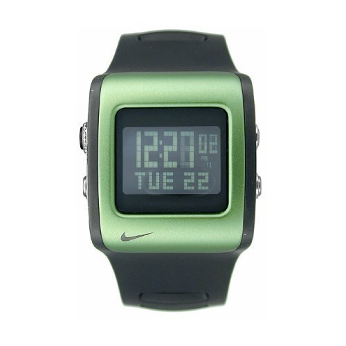Nike Mettle Hoja Reloj Digital - Negro/Verde - WC0037 - 033: Amazon.es: Relojes