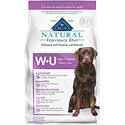 Blue Buffalo Natural Veterinary Diet Weight Management + Urinary Care for Dogs 6Lbs