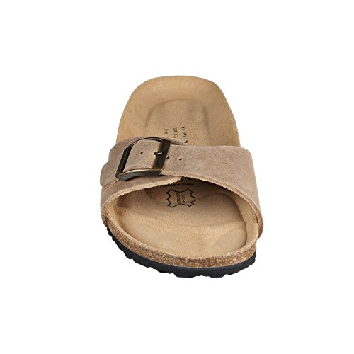 JOE N JOYCE Porto Natural Leather Soft-Footbed sandals narrow Beige lGt5TMv