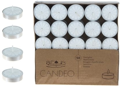 Ddi 50 Unscented Tea Light Candles - White(Pack Of 20)