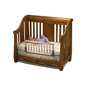 kidco convertible crib bed rail finish natural childrens home safety products baby. Black Bedroom Furniture Sets. Home Design Ideas