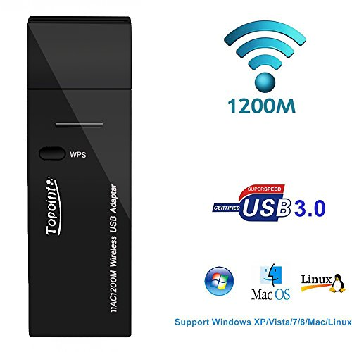 Wireless Adapter 867Mbps Topoint Computer