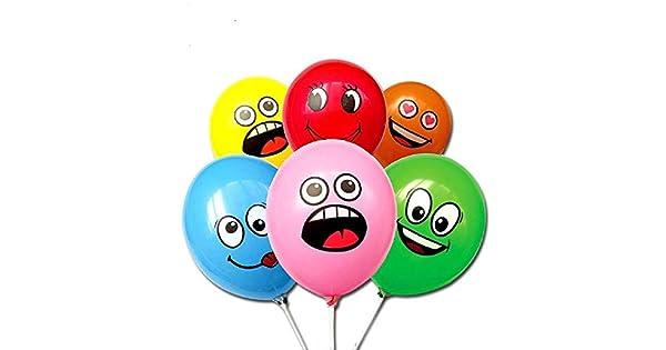 Amazon.com: Nueva globos de látex de Emoji Multi globos de ...