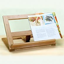 Natural Living Bamboo Recipe Book Holder