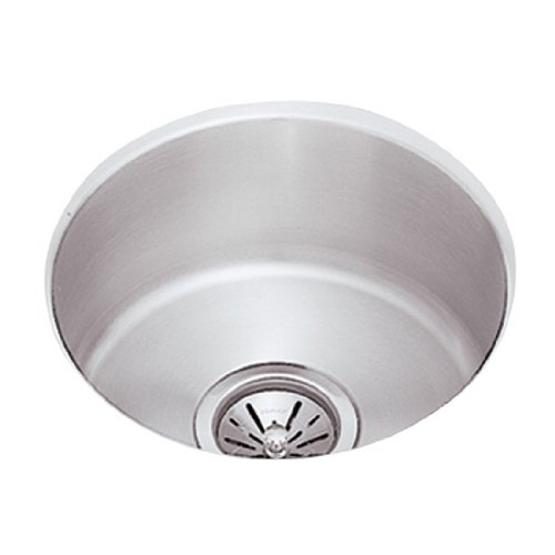 Elkay ELU16FB Mystic Lustertone Undermount Stainless Steel Single Bowl Bar/Bath - Steel Stainless Sink Undermount Group