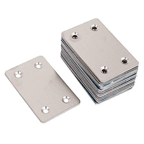 (WEIJ 20pcs Stainless Steel 1.5mm Thickness Flat Straight Mending Plates Fixing Corner Brace,2.4