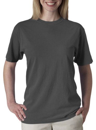 Chouinard Men's Ring-Spun Garment-Dye Bottom Hem T-Shirt, Charcoal, Small (Garment Ringspun Dye)