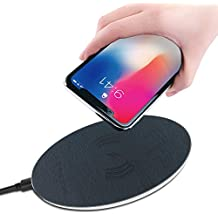 Wireless Charger GT ROAD Fast Charging Ultra Slim Qi Certified Charging Pad Universal Newest Model Designed Fit for iPhone Xs Max XR X 8 8Plus Samsung Galaxy S6 S7 S8 Note5 Note8 Nokia Lumia (Blue)