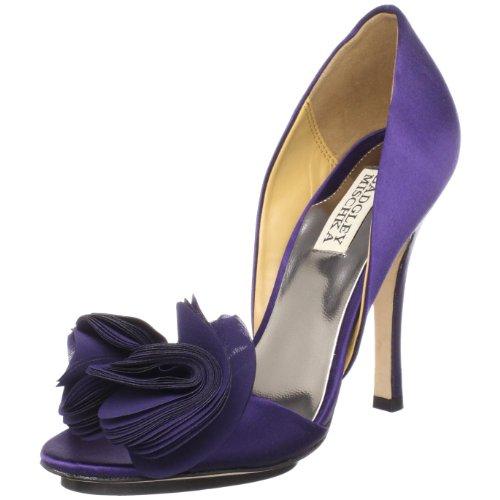 Badgley Mischka Women's Randall D'Orsay Pump,Purple Satin,7 M US Purple Designer Shoes