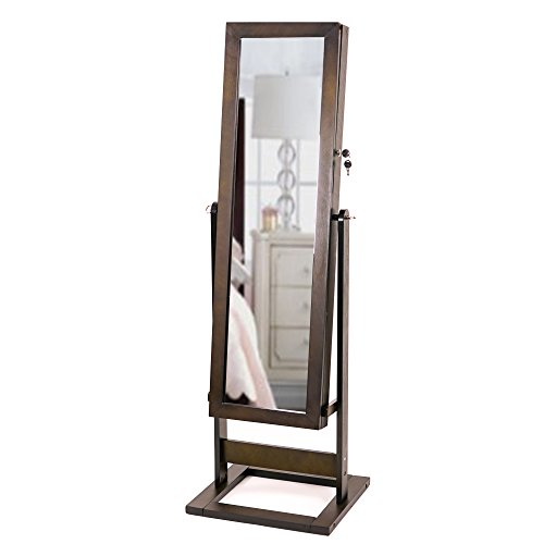 Hives & Honey Cheval Trina Espresso Standing Mirror with Jewelry Storage by Hives and Honey