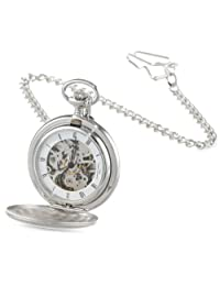 Charles-Hubert, Paris Satin Finish Mechanical Pocket Watch
