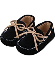 Toddler Boy's Girl's Suede Moccasin Loafers Leather Flats Boat Shoes Soft Indoor Outdoor Slippers