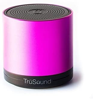 TruSound Audio T2, Wireless Bluetooth Portable Speaker speakerphone 360 Degree Sound, Pink