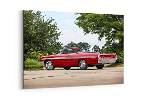1961 Pontiac Bonneville Convertible Luxury Classic - Canvas Wall Art Gallery Wrapped 26