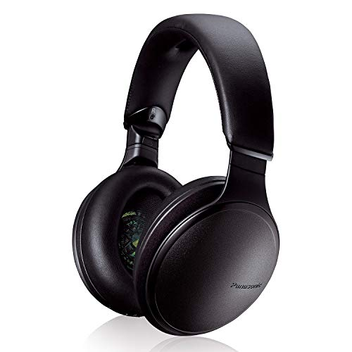 Panasonic Noise Cancelling Headphones with Wireless Bluetooth and Smartphone Siri or Google Voice Assistant - RP-HD605N-K - Over the Ear Headphone (Black)