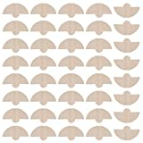 Prettyia 40pcs Natural Disposable Coffee Paper Cone Filters