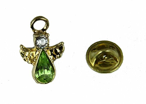 6030584 August Crystal Birth Month Guardian Angel Lapel Pin Brooch Tie Tack
