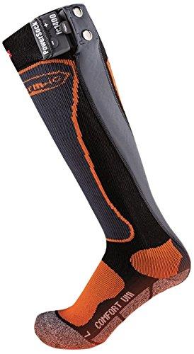 Therm-ic - Calcetines con calentador de pies negro negro/naranja Talla:42