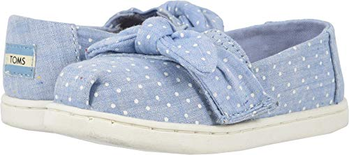 TOMS Kids Baby Girl's Alpargata (Toddler/Little Kid) Light Bliss Blue Speckled Chambray Dots/Bow 10 M US Toddler]()