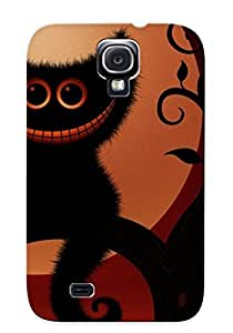 Black Fashion Case For Galaxy S4- Halloween(104) Defender Cat Case Cover For Lovers