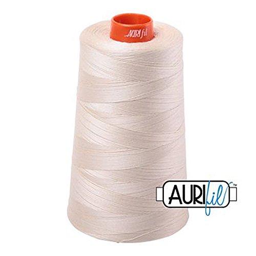 Aurifil 2310 Mako 50 Wt 100% Cotton Thread, 6,452 Yard Cone Light Beige