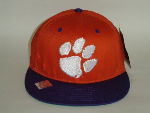 印象派クランプ織機NCAA Clemson Tigersロゴスタイルオレンジ2トーンスナップバック帽子キャップ