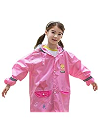 TRIWONDER Raincoat Rain Gear for Girls Boys Kids Poncho for 3-12 Years Old
