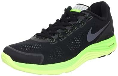 Nike Men's Lunarglide+ 4 Shield Black/Black/Elctrc Grn/Lqd Lm Running Shoe 8 Men US