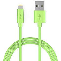 AUKEY Cavo Lightning 1m ( Verde ) [ Apple MFi certificato ] Trasmissione Dati e Ricarica per iPhone 5 iPhone 6 iPhone 5s iPhone 6s