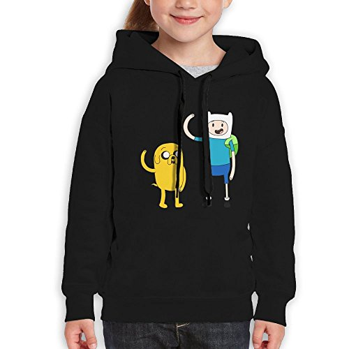 Avis N Youth Hoodie Adventure Time Casual Unisex Hoodiesrn Black S