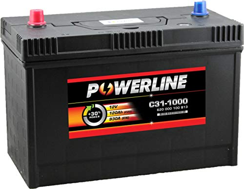 C31-1000 Powerline Car Battery 12V 120Ah: