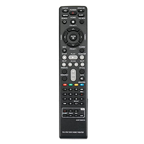 New AKB73596101 Replace Remote for LG Blu-Ray BH6720S BH6820SW BH6520TW BH6220S BH6240S Bh6340H Home Theater System by ZdalaMit