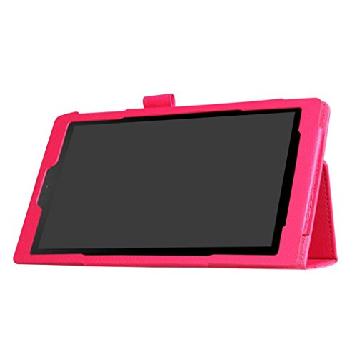 YJYdada For Amazon Kindle Fire HD 10 2017 7th Gen Magnetic Leather Stand Case Cover (hot pink)