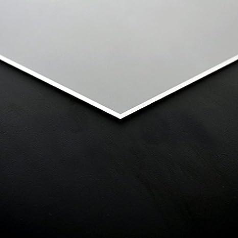 8mm PLEXIGLAS/® Platte 50x25 cm satiniert Milchglas