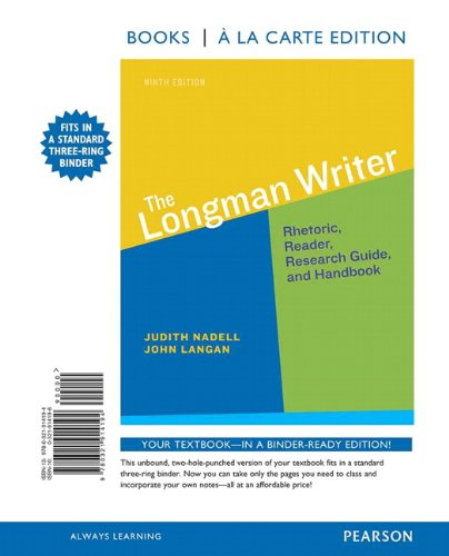 Autoflash Winchas Book Longman Writer The Books A La Carte