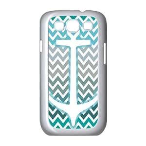 Cute TPU Case Anchor of Love Aqua Samsung Galaxy S3 9300 Cell Phone Case White