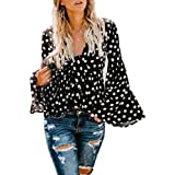 OCEAN-STORE Womens Autumn Loose Long Sleeve Letter Print Hooded Sweatshirt Pullover Sweaters for Women Tops Blouse