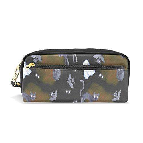 Pencil Case/Makeup Bags Halloween Pumpkin Bat Ghost Cat Big Capacity Portable Pencil Bag for College Students/Women/Adults ()