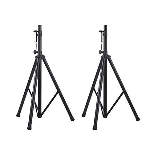 AmazonBasics Adjustable Speaker Stand - 4.1 to 6.6-Foot, Steel, 2-pack