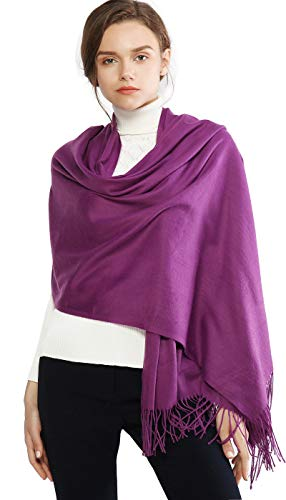 Cashmere Winter Scarf Long Large Soft Warm Pashmina Shawl Wrap for Women and Men by RIIQIICHY