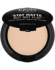 NYX Professional Makeup Stay Matte But Not Flat Powder Foundation, Natural, 0,26 Oz